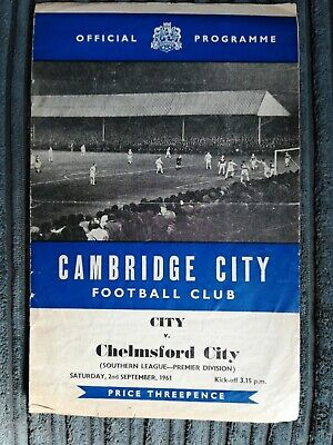 £1.99 • Buy 61/2 Cambridge City Vs Chelmsford City (Southern League)