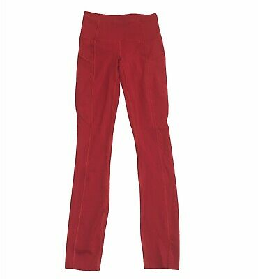 AU131.07 • Buy Lululemon Fast Free Tight II *Non-Reflective Nulux 25  Dark Red Size 0