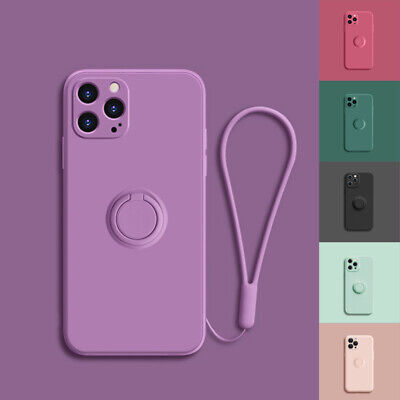 AU9.95 • Buy Shockproof Silicone Ring Case Stand Lanyard Cover For IPhone 12 Pro Max 11 XR XS