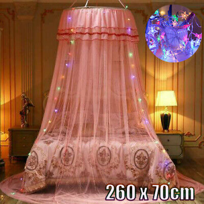£15.99 • Buy Kids Baby Bed Canopy Bedcover Mosquito Net Curtain Bedding Dome Tent & LED Light