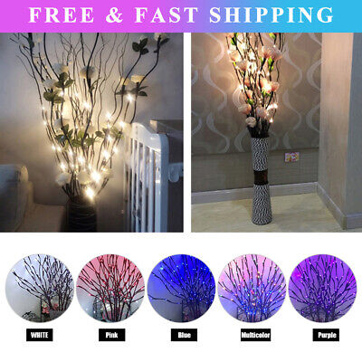 £9.89 • Buy 20 LED Branch Twig Lights Light Up Willow Tree Branches Festival Home Decor