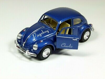Personalised Pageboy Gift Classic Volkswagen Beetle Model Toy Car, 11.5cm • 9.99£