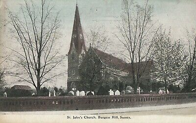 £1.44 • Buy A England Sussex Old Antique Postcard English Burgess Hill Church