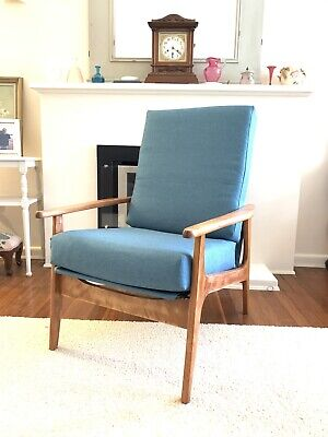 AU500 • Buy Reclining Mid Century Armchair - Restored