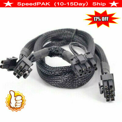 AU6.76 • Buy PCI Express GPU 8pin To Dual 8(6 2)Pin Power Cable For Graphics Card NEW