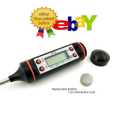 £3.29 • Buy Digital Food Thermometer Probe Cooking Meat Temperature BBQ Kitchen Turkey Poul