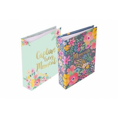 £9.99 • Buy 2 X Hello Flower Photo Albums 30 Sheets 120 Photos 6x4  Each Colorful Design New