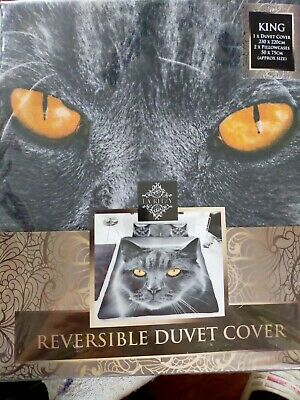 Duvet Cover Cat Print Bedding Set Poly Cotton La Ritzy King Size + Fitted Sheet • 25.90£