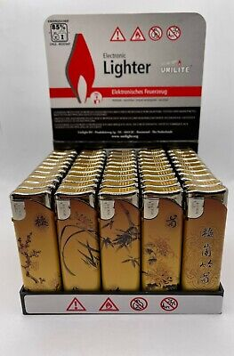 £10 • Buy 50x Variety Of Electronic Refillable Gas Lighters