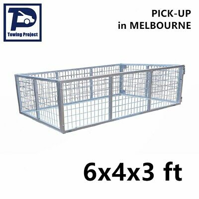 AU280 • Buy Box Trailer Mesh Cage Galvanised Bolts Included 6x4x3 Ft 900mm Melbourne