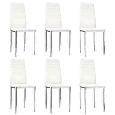 AU268.33 • Buy Dining Chairs 6 Pcs White Faux Leather