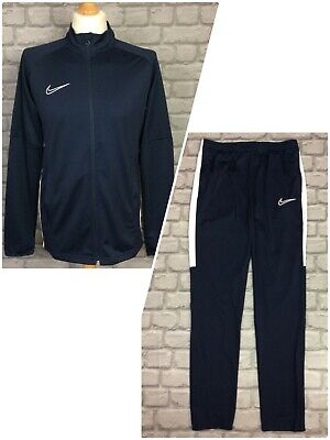 £24.50 • Buy Nike Mens Dri Fit Blue Woven Academy Full Zip Track Top/pants *sold Separately*