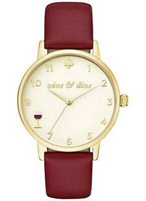 $ CDN112.78 • Buy Kate Spade Womens Wine Watch KSW 1188 Gold Face 34mm Valentine Gift