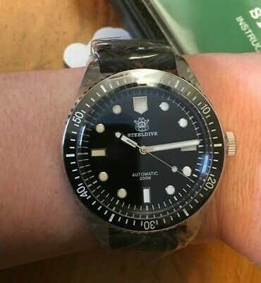 $214 • Buy STEELDIVE 65 Divers Auto Watch 200M 42mm BGW9 7720 USA Stock FAST Ship No Date