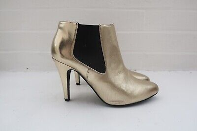 £6 • Buy Gold London Rebel Ankle Boot