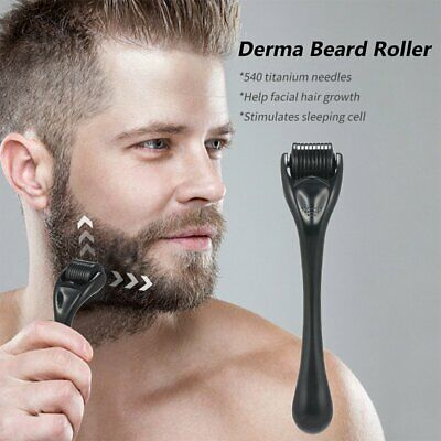 AU12.99 • Buy 540 Titanium Micro Needles Beard Hair Growth Derma Roller Facial Skin Care Tool