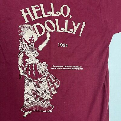 £24.85 • Buy Vintage 90s Hello Dolly Broadway Musical Theater Promo T-shirt Adult Small 50/50