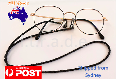 AU5.99 • Buy Leather Cord Sunglasses Reading Glasses Spectacles Eyeglass Holder Strap Chain