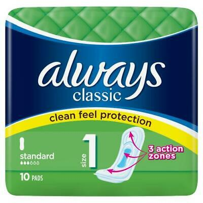 £4.20 • Buy Always Classic 10 Pads Size 1