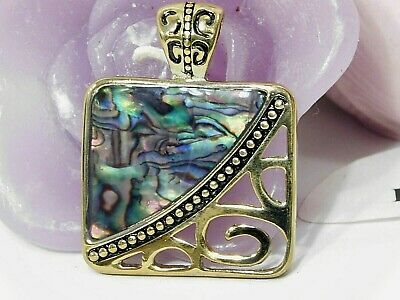$ CDN20.20 • Buy Beautiful Lia Sophia  MAJESTY  Slide / Pendant, Genuine Abalone,  NWOT