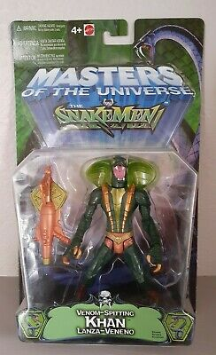 $50 • Buy 2003 Mattel MOTU 200x Snake Men Venom Spitting Khan Masters Of The Universe New