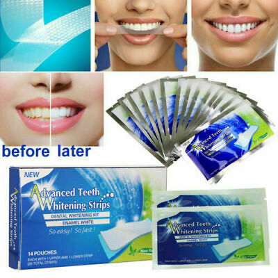 AU10.34 • Buy Advanced Teeth Whitening Strips Home Teeth Bleaching
