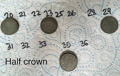 £4.99 • Buy Half Crown You Choose From 1920 1923 1929 1935 George V Silver Coin Pre 1947