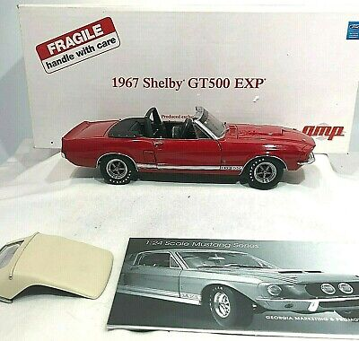 $445 • Buy Danbury Mint By GMP 1967 Shelby GT500 EXP RARE LE- Candy Apple Red - Complete