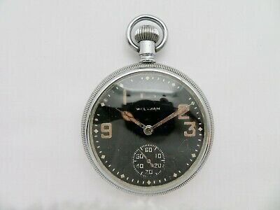 $175 • Buy 1943 British Military Waltham Pocket Watch 16 Size 51.5 Mm USA Made - Serviced