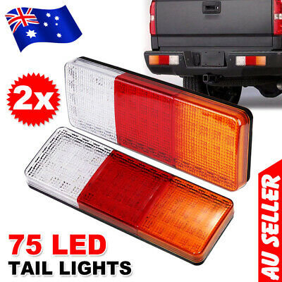 AU26.95 • Buy 2X Submersible Trailer Tail Lights 75LED Stop Tail Lights Kit Boat Truck Lamp AU