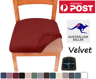 AU24.95 • Buy 2-8PCS VELVET Dining Chair Covers Kitchen Home Seat Cover Slipcover