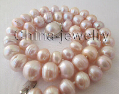 $29.99 • Buy N8723-21  Only 14mm Pink & Purple Freshwater Pearl Necklace- Mabe Pearl GP Clasp