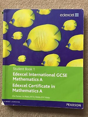 £5.50 • Buy Edexcel International GCSE Mathematics A Student Book 1 With ActiveBook CD By I.