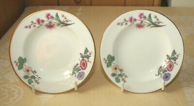 £12 • Buy Wedgwood 2 X Devon Sprays Small White / Floral Butter Dishes 11cms Diameter