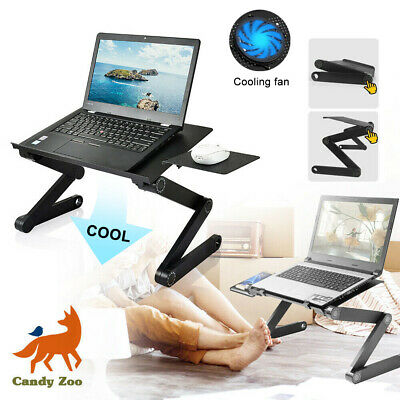 £8.99 • Buy Laptop Stand Desk Table Adjustable Folding Computer Table Portable Sofa Lap Tray