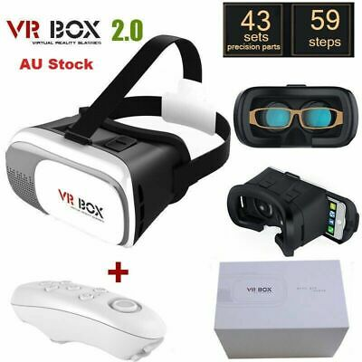 AU28.79 • Buy Virtual Reality VR Headset 3D Glasses With Remote For Android LOS Phone Samsung