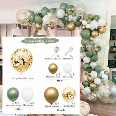 AU29.99 • Buy 1 Set Green Balloon Arch Garland Kit Wedding Party Home Balloons Globos Decor AU