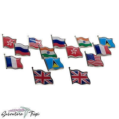 Country Flag Lapel Nation State BADGE Pin HIGH QUALITY Metal Enamel 200+ OPTIONS • 1.49£