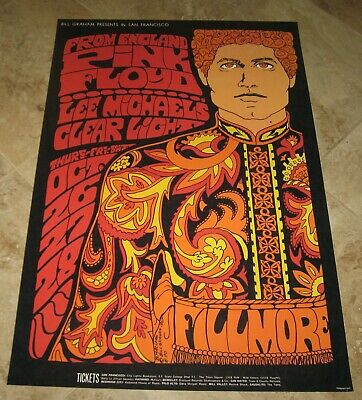 $50 • Buy 1967 PINK FLOYD CONCERT POSTER Fillmore Limited 2nd Printing 25 X37  Bill Graham