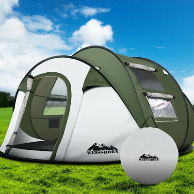AU106.48 • Buy Weisshorn Instant Up Camping Tent 4-5 Person Pop Up Tents Family Hiking Beach