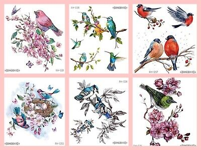£2.85 • Buy Birds Temporary Tattoo Sheets Stickers Children Kids Adults For Every Occasion