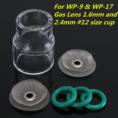 AU24.28 • Buy 6Pc TIG Welding Torch #12 Fupa Pyrex Glass Cup Kit For WP-9 WP-17 18