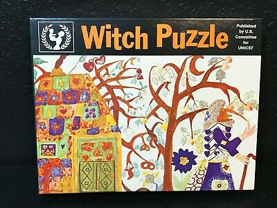 $ CDN60.89 • Buy Witch Puzzle 12x18 72 Pieces Vintage Puzzle By U.S. Committee For Unicef