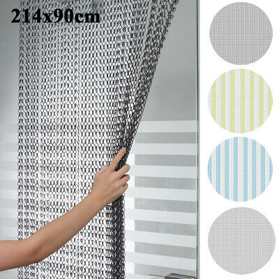 Aluminum Door Curtain Metal Chain Fly Insect Blinds Screen Pest Control 214*90CM • 30.98£