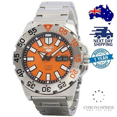 $ CDN394.78 • Buy Seiko 5 Sports Baby Monster SRP483 Orange Automatic Mens Watch