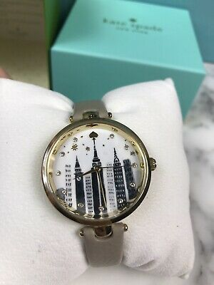 $ CDN106.52 • Buy NIB Kate Spade Cityscape Skyscraper Gray Leather See Watch KSW1429 London Travel