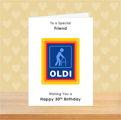 £2.99 • Buy SMALL A6 Personalised Joke Funny Birthday Card Male Him Fathers Day Old Oldi