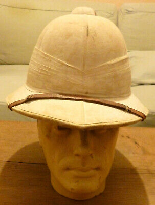 £85 • Buy WW2 Royal Merchant Navy Pith Helmet Radio Officer By Comfortease Size Small