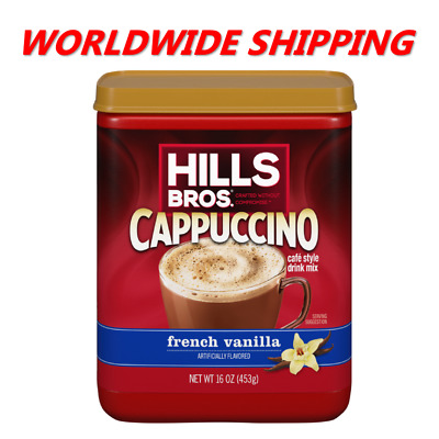 £9.37 • Buy Hills Bros. Instant Cappuccino French Vanilla Coffee Mix 16 Oz WORLD SHIPPING