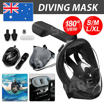 AU19.85 • Buy AU Full Face Diving Seaview Snorkel Snorkeling Mask Swimming Goggles For GoPro
